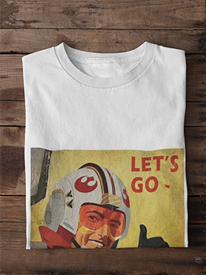 Quirky Lets Go Printed T-shirt