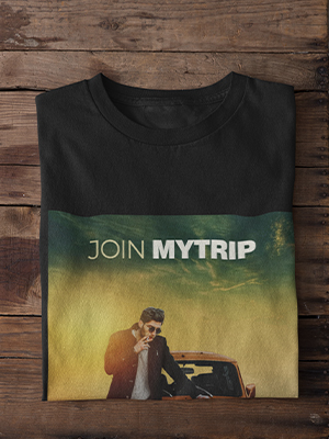 Quirky Join MyTrip Printed T-shirt