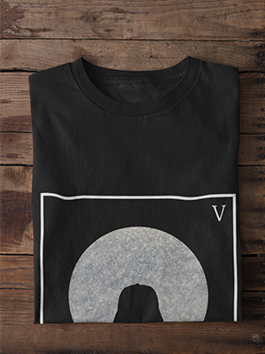 Quirky Moon Light Printed T-shirt